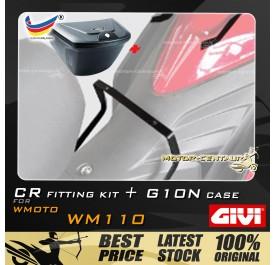 GIVI G10N CENTRE CASE + FITTING KIT FOR WMOTO WM110