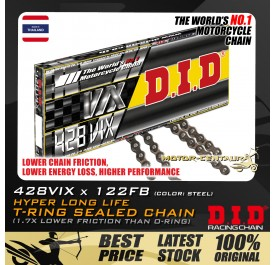 DID T-RING SEALED CHAIN 428VIX X 122RB STEEL THAILAND