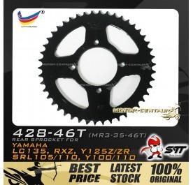 STT REAR SPROCKET (MR3-35-46T) RXZ 428-46T BLACK