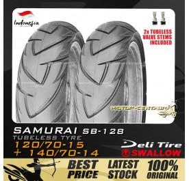 SWALLOW TUBELESS TYRE SAMURAI SB128 120/70-15 + 140/70-14