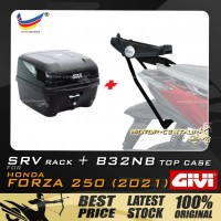 GIVI B32NB TOP CASE +  GIVI HONDA FORZA 250 (2021) SRV SPECIAL RACK