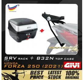 GIVI B32N TOP CASE +  GIVI HONDA FORZA 250 (2021) SRV SPECIAL RACK