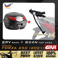 GIVI B360N TOP CASE +  GIVI HONDA FORZA 250 (2021) SRV SPECIAL RACK