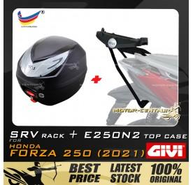 GIVI E250N2 TOP CASE +  GIVI HONDA FORZA 250 (2021) SRV SPECIAL RACK