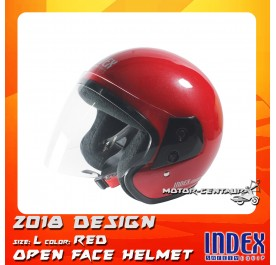INDEX HELMET METALLIC RED