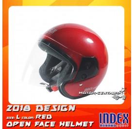 INDEX HELMET METALLIC RED