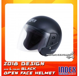 INDEX HELMET METALLIC BLACK