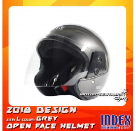 INDEX HELMET METALLIC GREY