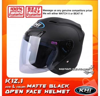 KHI HELMET K12.1 MATT BLACK