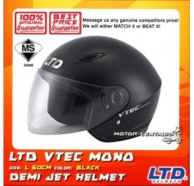 LTD HELMET VTEC MONO METALLIC BLACK