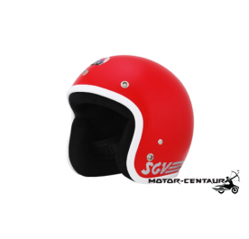 SGV HELMET WHITE-LINING RED