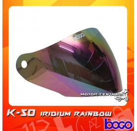 BOGO VISOR K50 (KHI) IRIDIUM RAINBOW