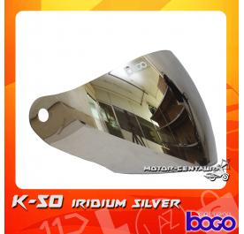 BOGO VISOR K50 (KHI) IRIDIUM SILVER