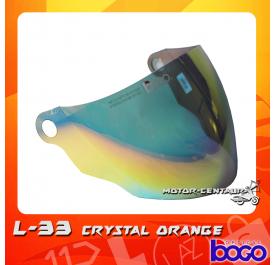 BOGO VISOR L33 (LTD) CRYSTAL ORANGE