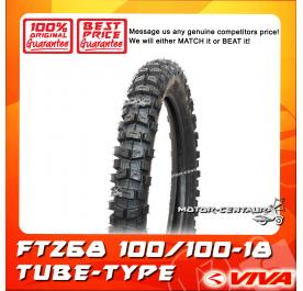 VIVA TUBE-TYPE TYRE FT268 100/100-18