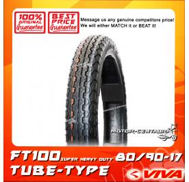 VIVA TUBE-TYPE TYRE FT100 SUPER HEAVY DUTY 80/90-17