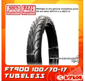 VIVA TUBELESS TYRE FT900 100/70-17