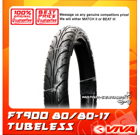 VIVA TUBELESS TYRE FT900 80/80-17