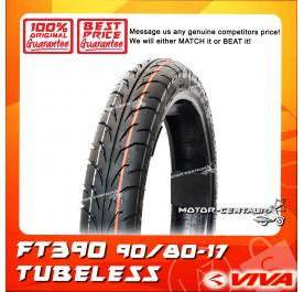 VIVA TUBELESS TYRE FT390 90/80-17
