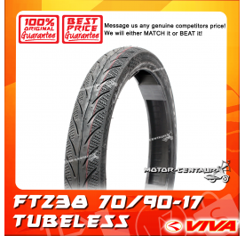 VIVA TUBELESS TYRE FT238 70/90-17