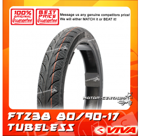 VIVA TUBELESS TYRE FT238 80/90-17