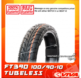 VIVA TUBELESS TYRE FT390 100/90-10