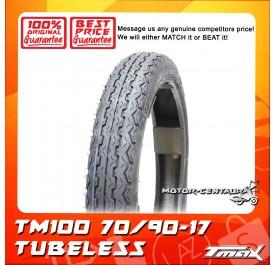 TMAX TUBELESS TYRE TM100 70/90-17