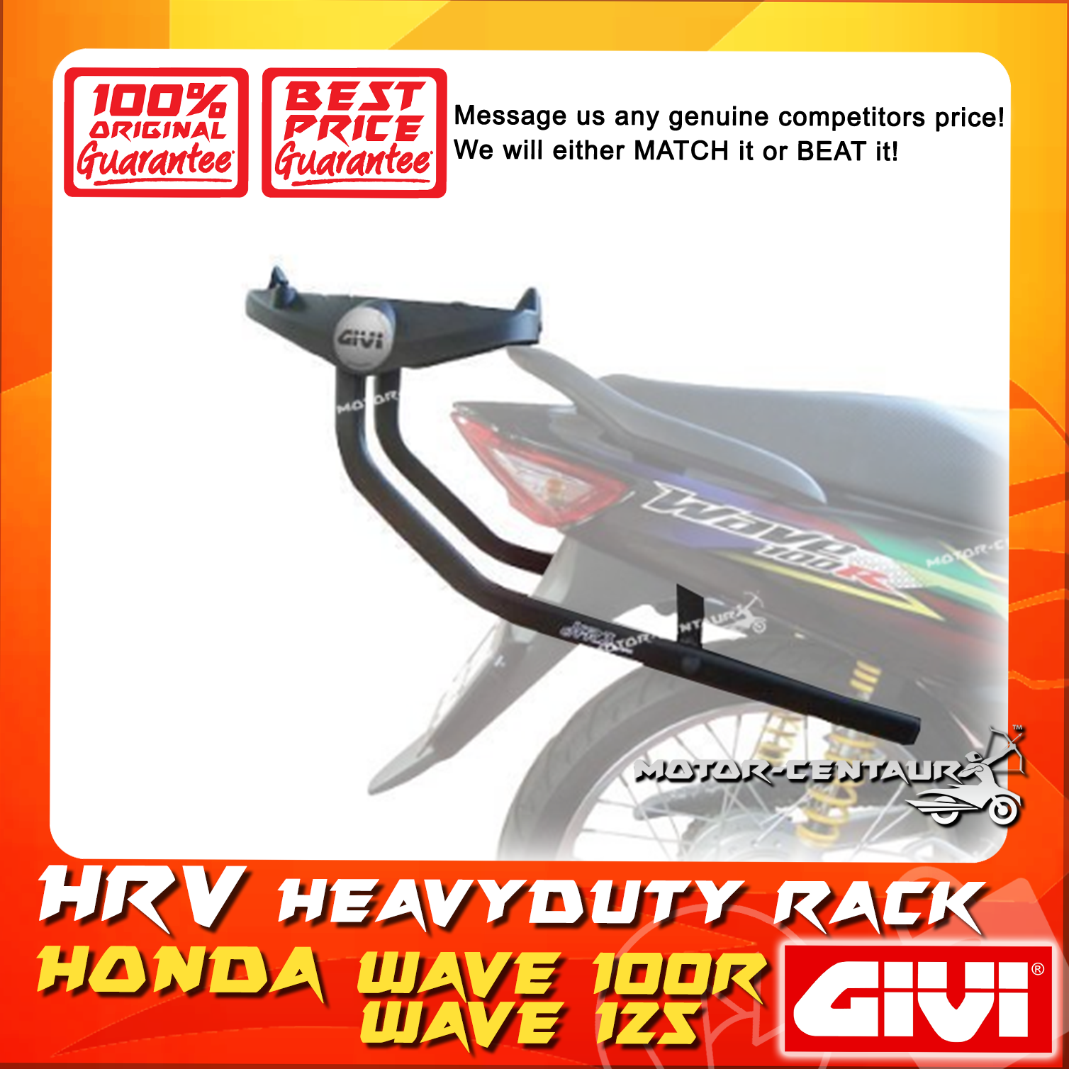 GIVI HEAVY DUTY RACK HRV HONDA WAVE 100R, 125
